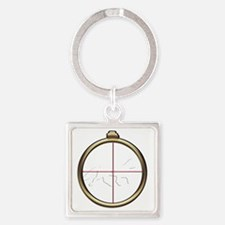Fox Hunt inverted Square Keychain