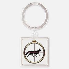 Fox Hunt Square Keychain