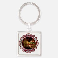 Firefighters Square Keychain