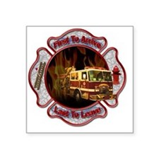 "Firefighters Square Sticker 3"" x 3"""