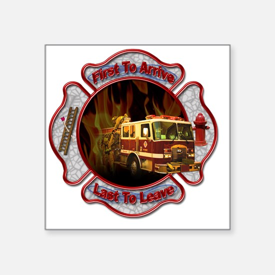 """Firefighters Square Sticker 3"""" x 3"""""""