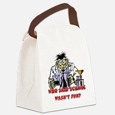 fun science Canvas Lunch Bag