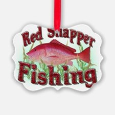 red snapper fishing Ornament