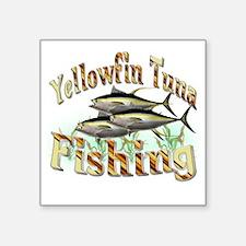 """Yellowfin Tuna Square Sticker 3"""" x 3"""""""
