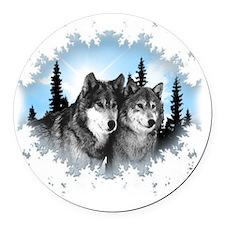 wolves Round Car Magnet