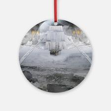 ghostship Round Ornament