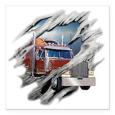 "trucking Square Car Magnet 3"" x 3"""