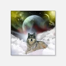 "fantasy wolf Square Sticker 3"" x 3"""