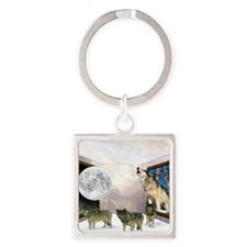 Room Of Wolves Square Keychain