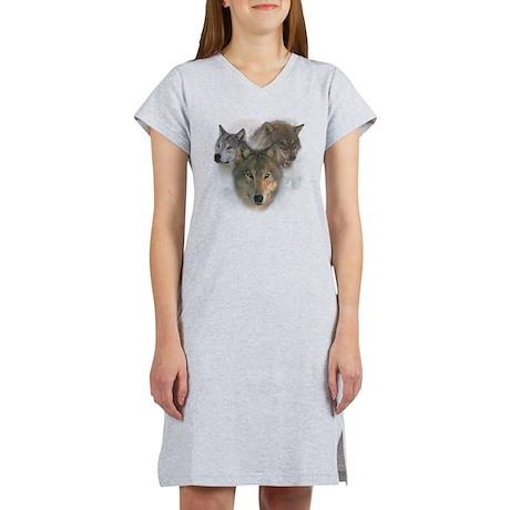 2-wolfs Women's Nightshirt