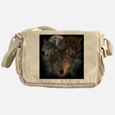 2-wolves Messenger Bag