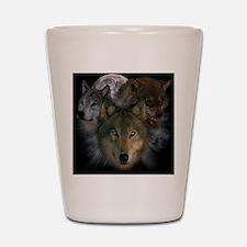 2-wolves Shot Glass