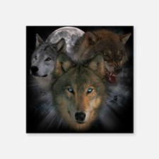 "2-wolves Square Sticker 3"" x 3"""