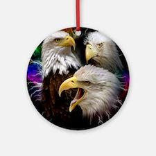 2-eagles Round Ornament