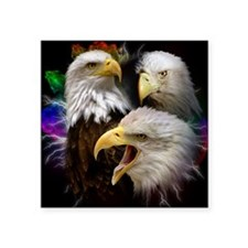 "2-eagles Square Sticker 3"" x 3"""