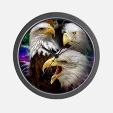 2-eagles Wall Clock