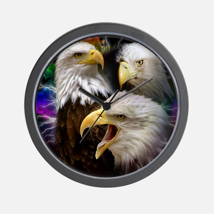 2-eagles Wall Clock