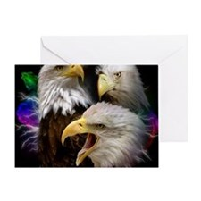 2-eagles Greeting Card