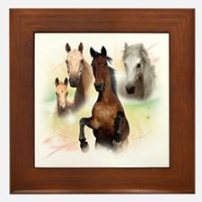 Horses Framed Tile