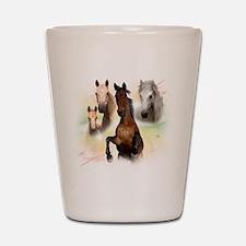 Horses Shot Glass