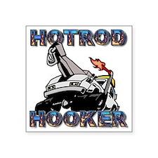 "hotrod hooker Square Sticker 3"" x 3"""