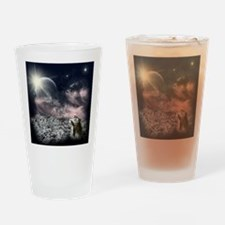 2-snow leopard mouse Drinking Glass