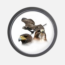 2-Hawks Wall Clock