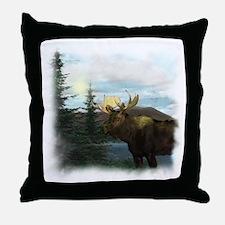 2-Moose Throw Pillow