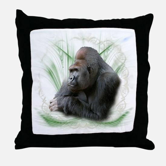 gorilla1 Throw Pillow