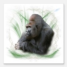 "gorilla1 Square Car Magnet 3"" x 3"""