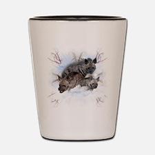 Striped Hyenas Shot Glass