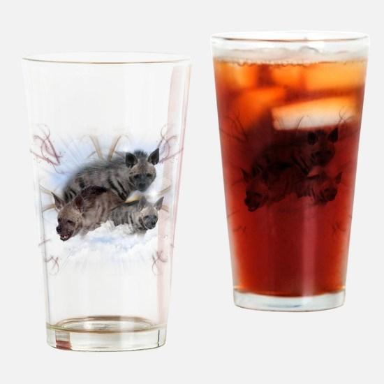 Striped Hyenas Drinking Glass