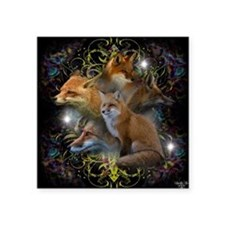"Foxy Square Sticker 3"" x 3"""