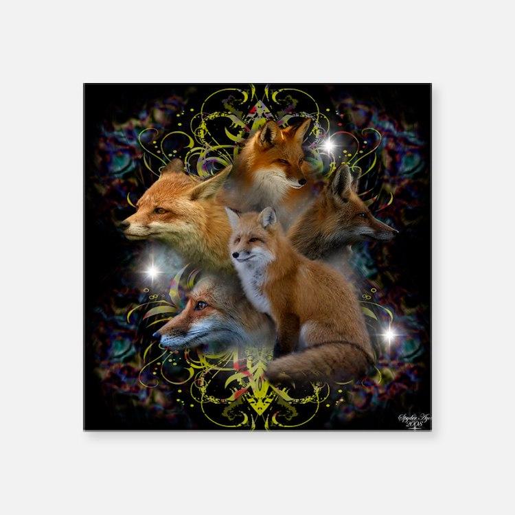 """Foxy Square Sticker 3"""" x 3"""""""