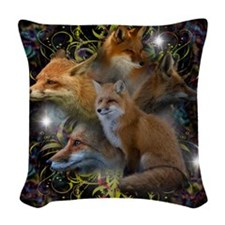 Foxy Woven Throw Pillow