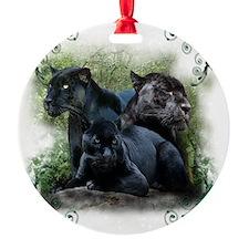 3-black jaguar Ornament