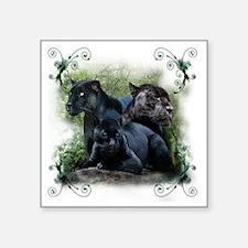 """3-black jaguar Square Sticker 3"""" x 3"""""""