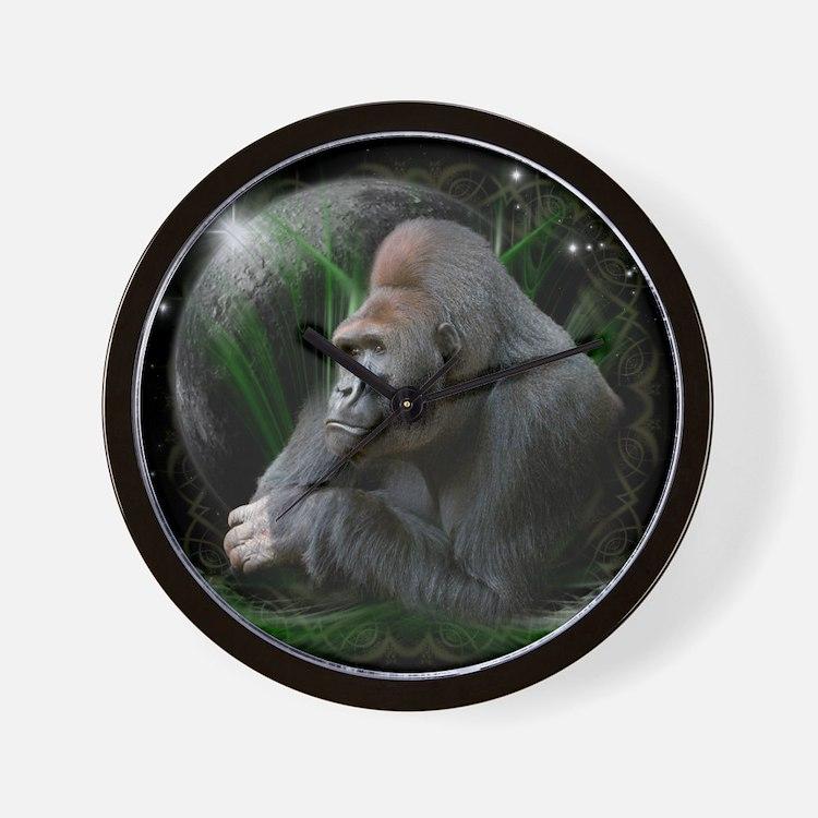 gorilla1black Wall Clock