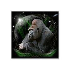 """gorilla1black Square Sticker 3"""" x 3"""""""