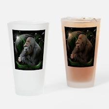 gorilla1black Drinking Glass