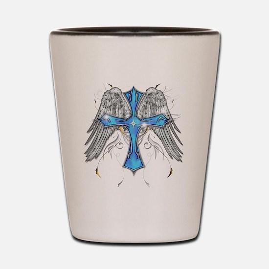 flying cross cafe Shot Glass