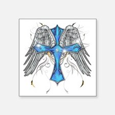 """flying cross cafe Square Sticker 3"""" x 3"""""""