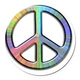 Peace symbol Round Car Magnets