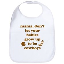 Grow Up Cowboy Bib