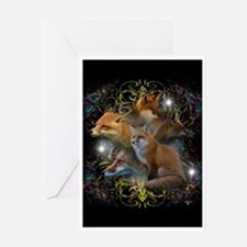 Foxes Greeting Card