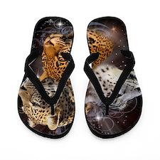 Leopards Flip Flops