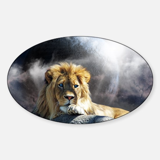 King of Universe Sticker (Oval)
