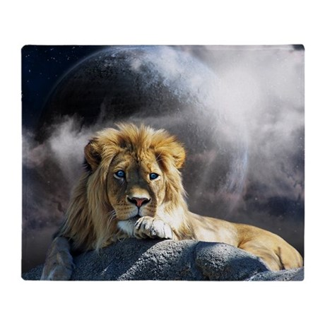 King of Universe Throw Blanket
