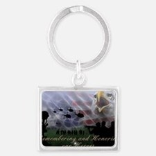 Remember the Heros Landscape Keychain