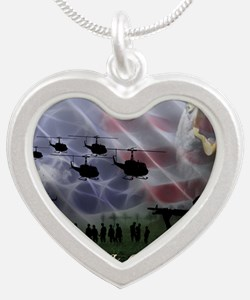 Remember the Heros Silver Heart Necklace